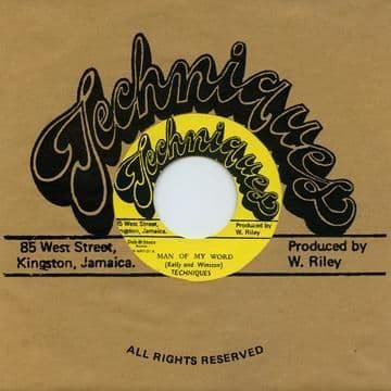 Techniques - Man Of My Word / Time Has Come (Techniques / Dub Store Records) JPN 7