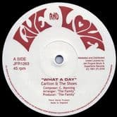 """Carlton & The Shoes - What A Day / Version (Live & Love / Jah Fingers) 12"""""""