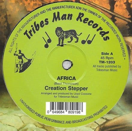 Creation Stepper - Africa / Pebbles - Wa Go A Africa (Tribes Man) 12
