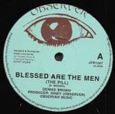 Dennis Brown - Blessed Are The Men (The Pill) / Junior Delgado - Cry Cry (Observer/Jah Fingers) 12""
