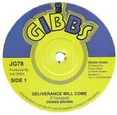 Dennis Brown - Deliverance Will Come / Milk & Honey (Joe Gibbs ) 12""