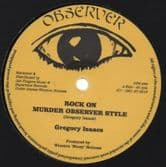 """Gregory Isaacs - Rock On / Dennis Brown & Dillinger - Jah Is Watching (Observer /Jah Fingers) 12"""""""