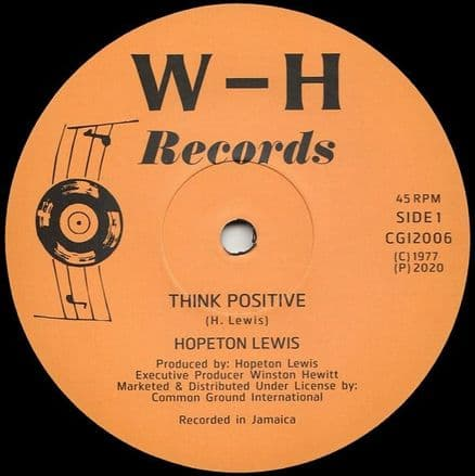 Hopeton Lewis - Think Positive (W-H Records / Common Ground) 12