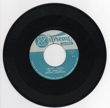 Jamaicans - Chain Gang / Jackie Mittoo & The Soul Brothers - Do The Bogaloo (Supreme<StudioOne> / Dub Store) JPN 7