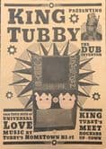 King Tubby Poster A4 Black and Gold printed on Buff card