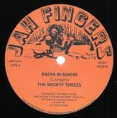 Mighty Threes - Rasta Business / Sata (Jah Fingers) 12""
