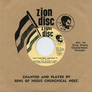 Sons Of Negus Churchical Host - Take Your Bible & Read It / There Is A Green Hill Far Away (Zion Disc / Dub Store Records) JPN 7