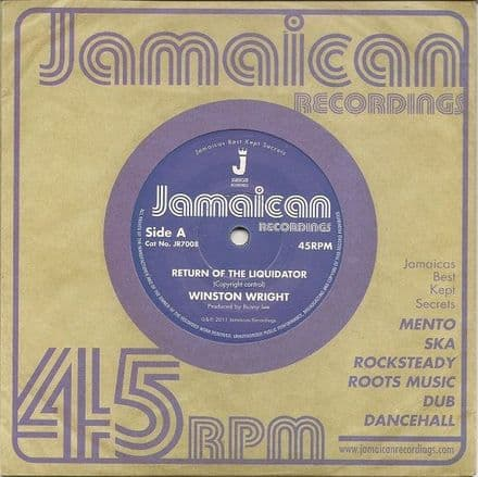 Winston Wright - Return Of The Liquidator / version (Jamaican Recordings) UK 7