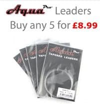 Aqua Pro Tapered Leaders - Buy any 5 for £8.99!