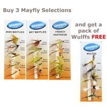Buy 3 Mayfly Selections and get a Pack of Wullfs FREE