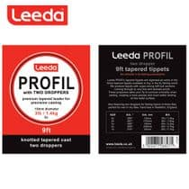 Leeda Profil Tapered Leaders with Two Droppers