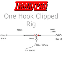 Tronixpro One Hook Clipped Rig