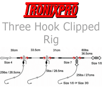 Tronixpro Three Hook Clipped Rig