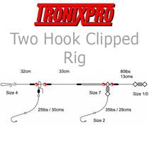 Tronixpro Two Hooked Clipped Rig