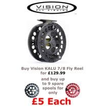 Vision Kalu #7/8 Reel- Buy Spare spools for only £5