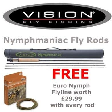 Vision Nymphmaniac Fly Rods- With FREE Euro Nymph Line