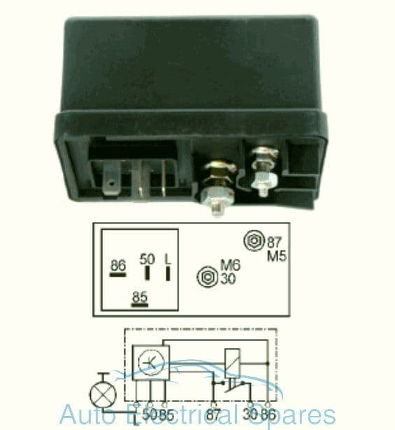 160424 glow plug relay replaces Lucas HDC102