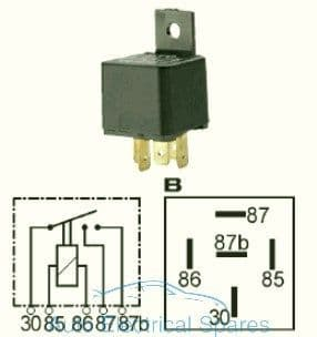 160902 Double contact relay 12v 2 x 15A