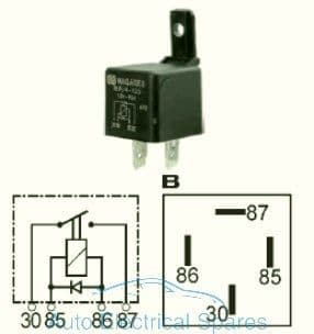 160929 mini relay 12v 40A with diode