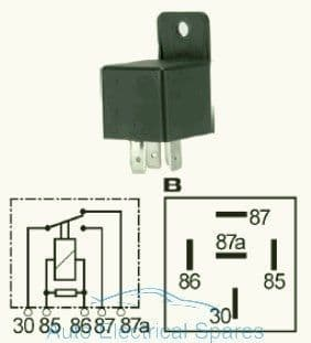 160932 Change over relay 12v 40/15A with resistor