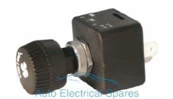 180314 CLASSIC / KIT CAR rotary fan / blower switch 3 position Off-On-On
