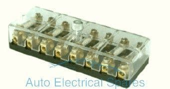 190774 Continental fuse box 8 way with screw terminals 6v / 12v