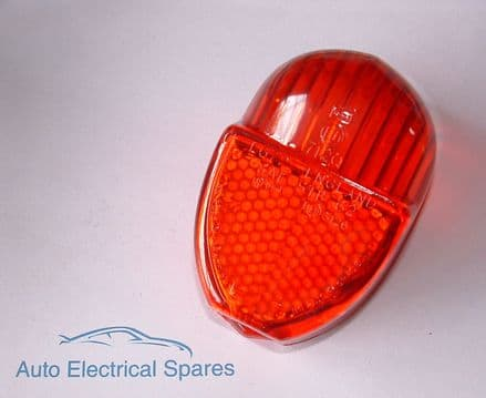 54574181 rear / tail light lens RED replaces Lucas L672