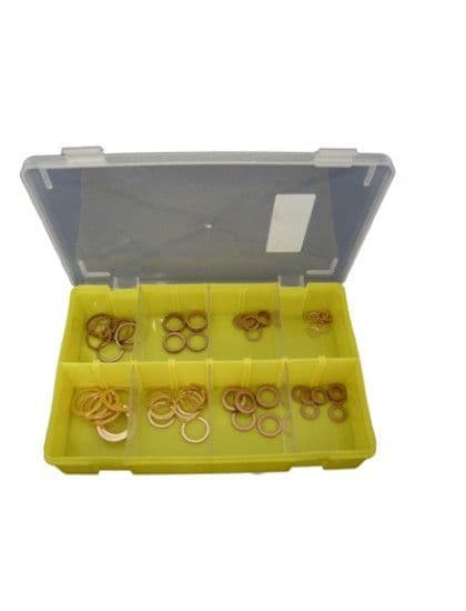 Assorted Copper Sealing Washers x 80