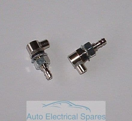 CLASSIC CAR Single Windscreen Washer Jets CHROME PAIR