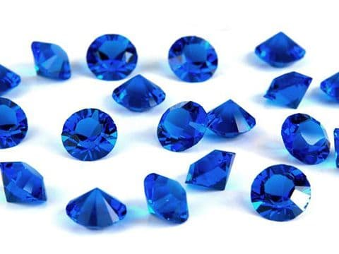 1088 UNFOILED Round Pointed Back Crystals, Capri Blue