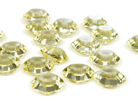 1128 UNFOILED Round Crystals, Jonquil