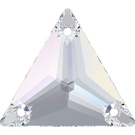 3270 Triangle Sew On Crystals, Crystal AB