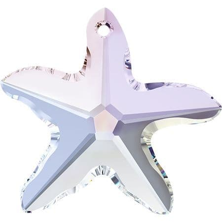 CLEARANCE, 6721 Starfish Pendants, 16mm, Crystal AB, Pack of 1