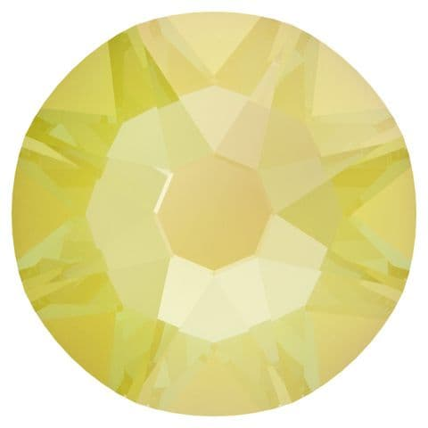 Flatback Crystals, No-Hotfix, Round, Electric Yellow DeLite