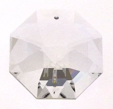 Swarovski Crystal Octagon Lily, style 8115, 40mm, 1 Hole, Clear Crystal